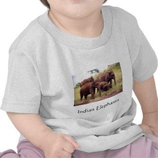 Indian wild elephants t shirts