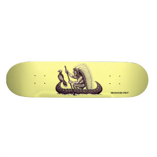 Indian with eagle graphic art cool skateboard