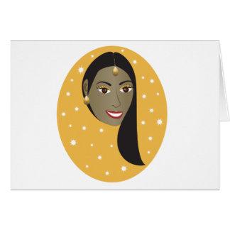Indian Woman.ai Greeting Card