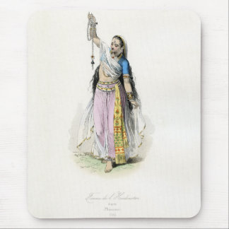 Indian Woman Traditional Costume Mouse Mats