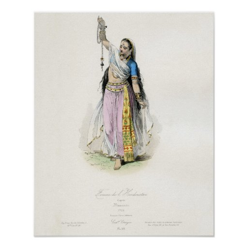Indian Woman Traditional Costume Poster