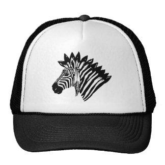 Indian zebra trucker hat