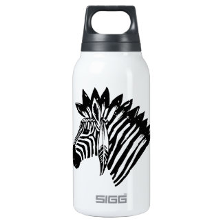 Indian zebra 10 oz insulated SIGG thermos water bottle