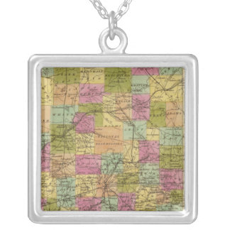 Indiana 3 silver plated necklace