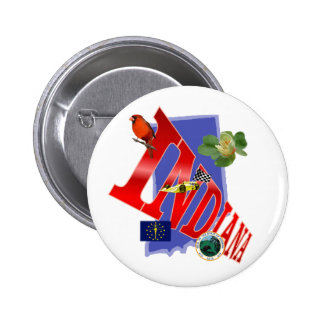 Indiana 6 Cm Round Badge
