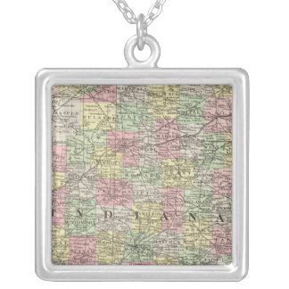 Indiana 6 silver plated necklace