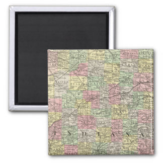 Indiana 6 square magnet