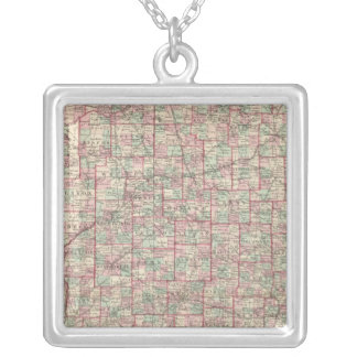 Indiana 8 silver plated necklace