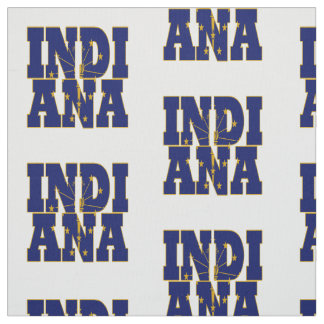 Indiana American state flag Fabric