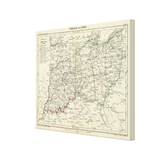 Indiana and Ohio Canvas Print