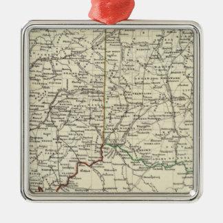 Indiana and Ohio Christmas Ornament
