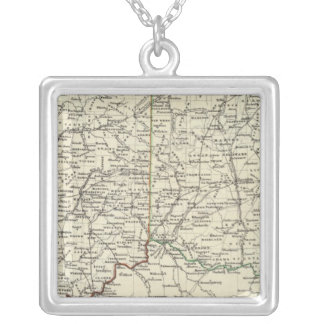 Indiana and Ohio Silver Plated Necklace