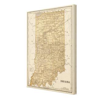 Indiana Atlas Map Canvas Print