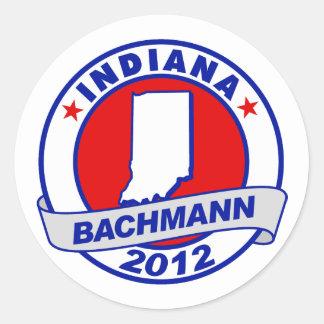Indiana Bachmann Round Sticker