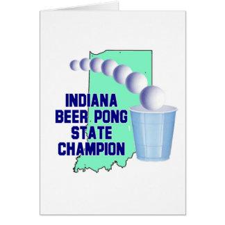 Indiana Beer Pong Champion Greeting Card
