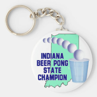 Indiana Beer Pong Champion Keychain