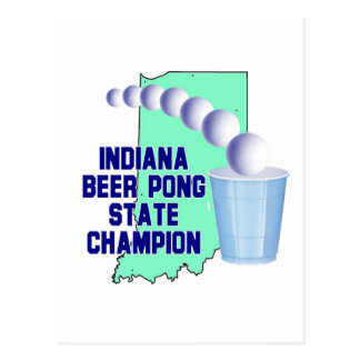 Indiana Beer Pong Champion Postcards