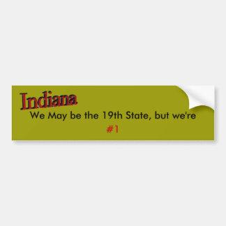 Indiana Car Bumper Sticker