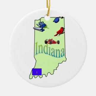 Indiana Christmas Tree Ornament