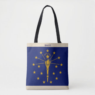 Indiana Cloth Tote Market Bag Personalize Name