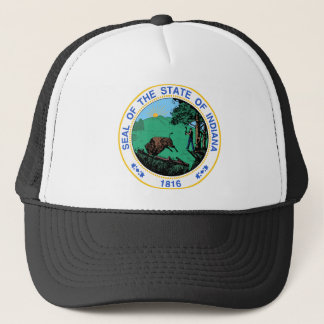Indiana Coat of Arms Trucker Hat