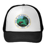 Indiana Coat of Arms Trucker Hats