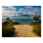 Indiana Dunes, Lake Michigan Poster