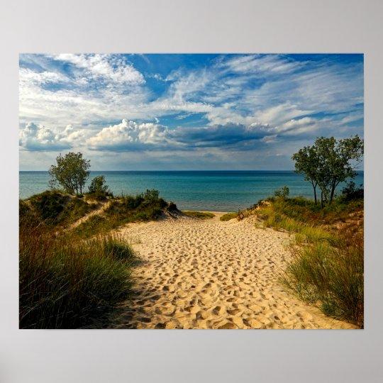 Indiana Dunes, Lake Michigan Poster