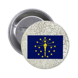 Indiana Flag 6 Cm Round Badge