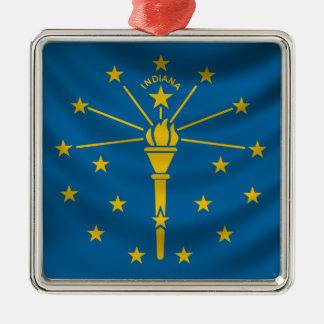 Indiana Flag Christmas Ornament