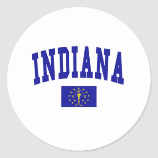 Indiana Flag Classic Round Sticker