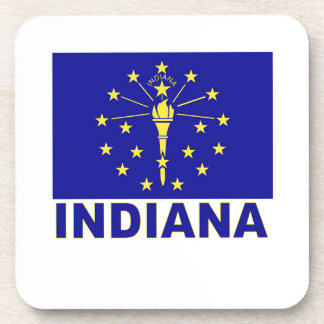 Indiana Flag Drink Coasters