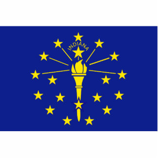 Indiana Flag Keychain Cut Out