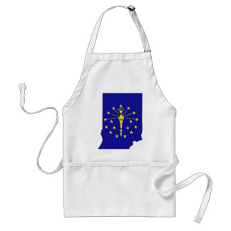 Indiana Flag Map Aprons