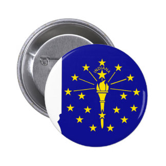 Indiana Flag Map Pinback Buttons