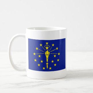 Indiana Flag + Map Mug