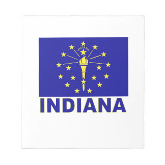 Indiana Flag Notepads