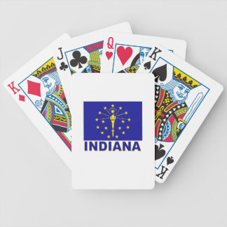Indiana Flag Bicycle Poker Deck