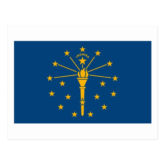 Indiana Flag Postcard