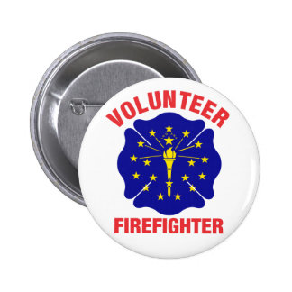 Indiana Flag Volunteer Firefighter Cross 6 Cm Round Badge