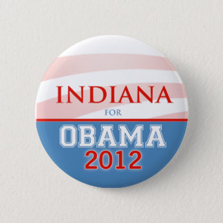 INDIANA for Obama 2012 6 Cm Round Badge