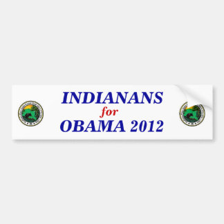 Indiana for Obama 2012 sticker Bumper Sticker