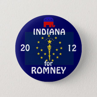 Indiana for Romney 2012 6 Cm Round Badge