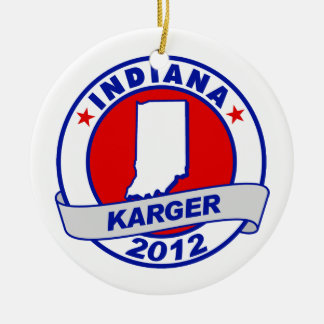 Indiana Fred Karger Christmas Ornaments