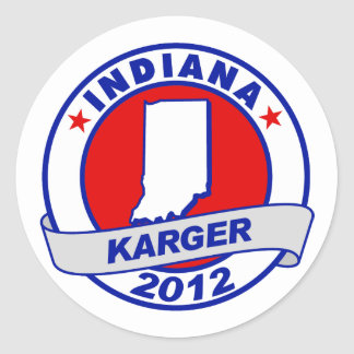 Indiana Fred Karger Stickers