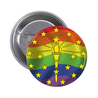 Indiana Gay Pride Flag Buttons