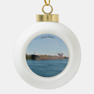 Indiana Harbor ball or snowflake ornament