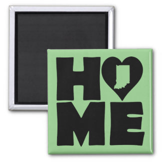 Indiana Home Heart State Fridge Magnet
