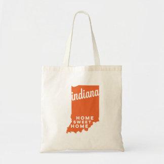 indiana | home sweet home | orange tote bag