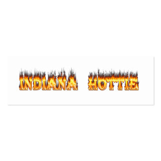 Indiana Hottie Fire and Flames Pack Of Skinny Business Cards